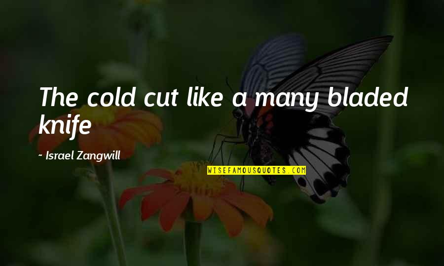 Israel Zangwill Quotes By Israel Zangwill: The cold cut like a many bladed knife
