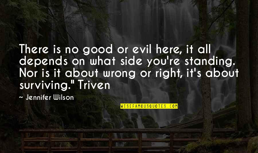 It All About You Quotes By Jennifer Wilson: There is no good or evil here, it
