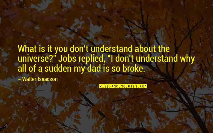 It All About You Quotes By Walter Isaacson: What is it you don't understand about the
