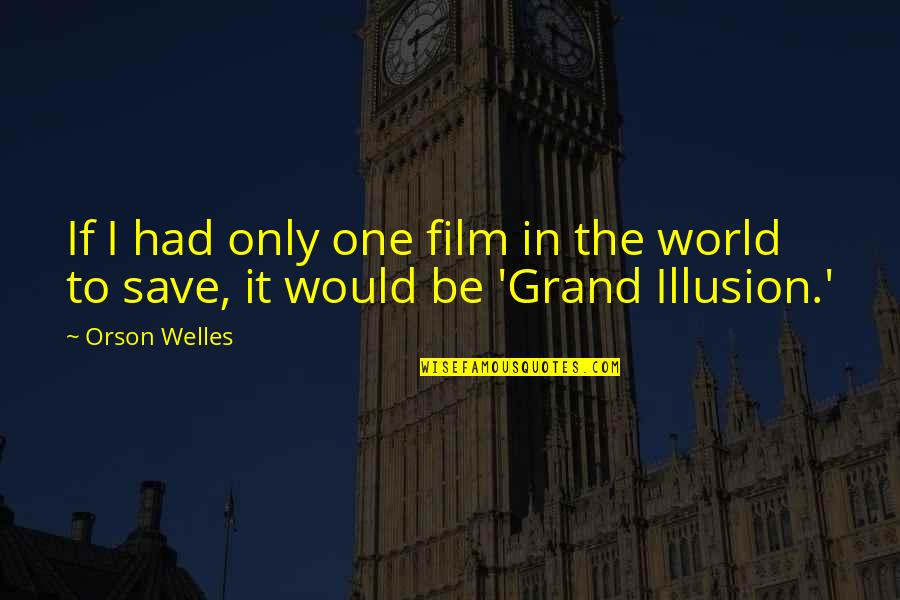 It Film Quotes By Orson Welles: If I had only one film in the