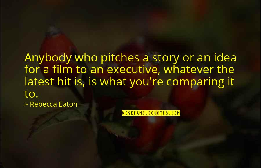 It Film Quotes By Rebecca Eaton: Anybody who pitches a story or an idea