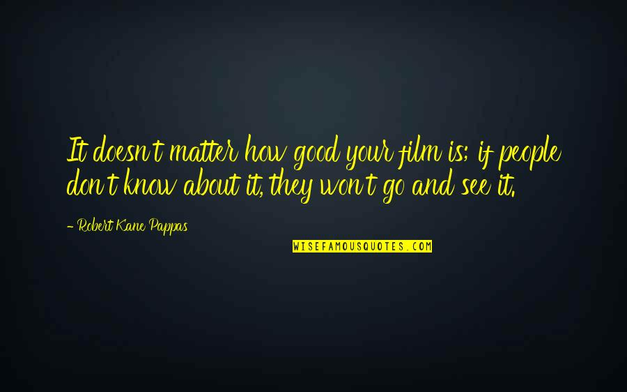 It Film Quotes By Robert Kane Pappas: It doesn't matter how good your film is;