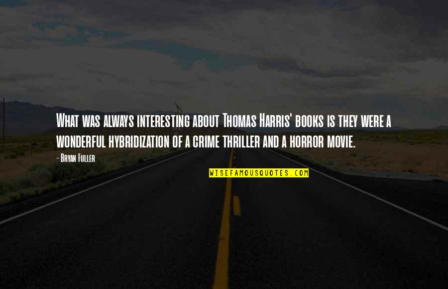 It Horror Movie Quotes By Bryan Fuller: What was always interesting about Thomas Harris' books