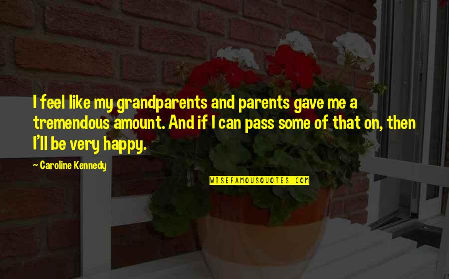 It Ll Pass Quotes By Caroline Kennedy: I feel like my grandparents and parents gave