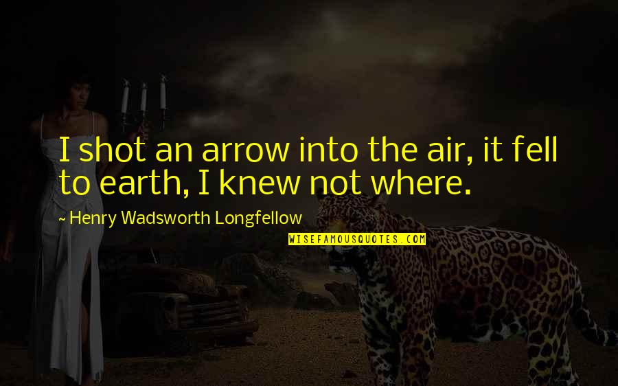 It So Hot Outside Quotes By Henry Wadsworth Longfellow: I shot an arrow into the air, it