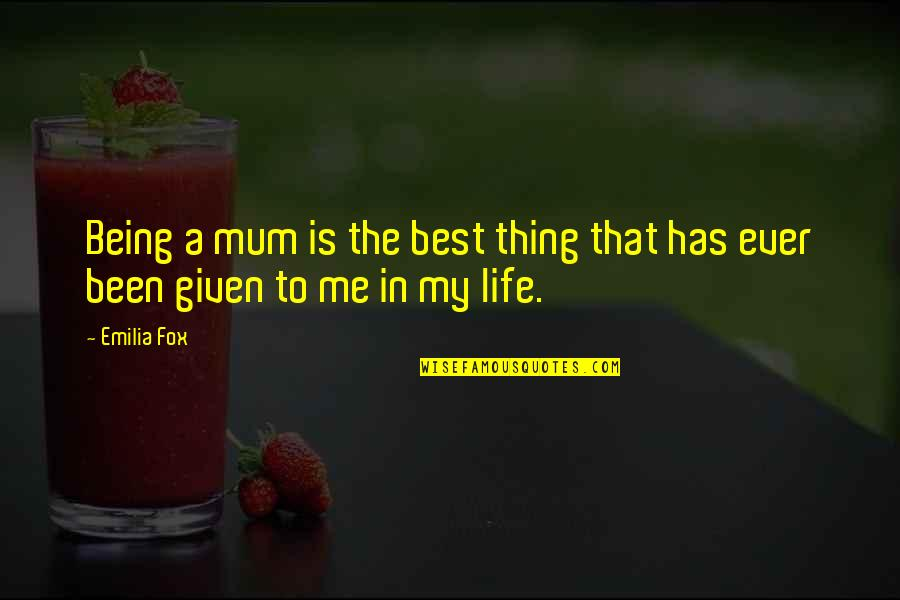 It Takes A Real Man To Raise A Child Quotes By Emilia Fox: Being a mum is the best thing that