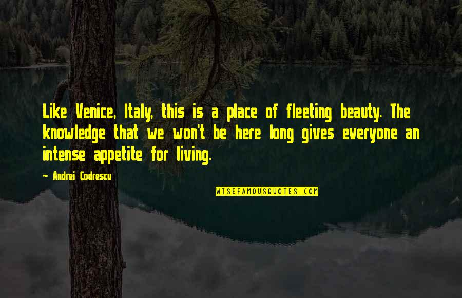 It Won't Be Long Quotes By Andrei Codrescu: Like Venice, Italy, this is a place of