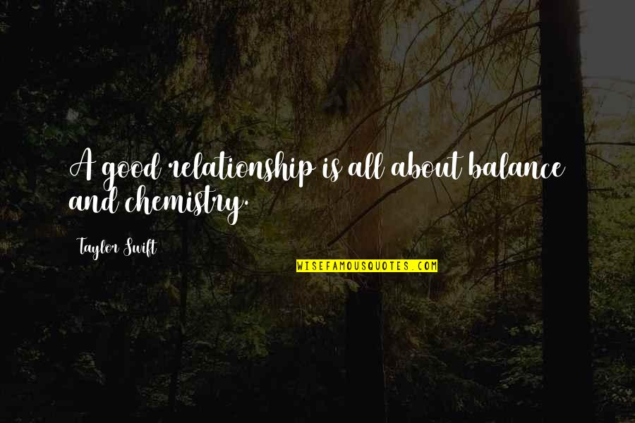 It's All About Balance Quotes By Taylor Swift: A good relationship is all about balance and