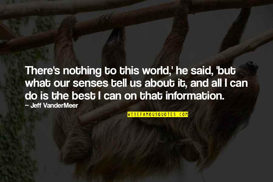 It's All About Us Quotes By Jeff VanderMeer: There's nothing to this world,' he said, 'but