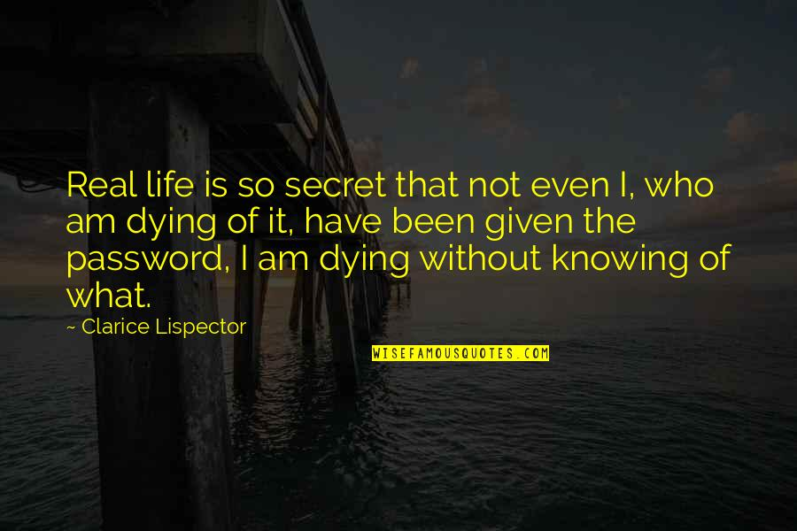 It's Been Real Quotes By Clarice Lispector: Real life is so secret that not even