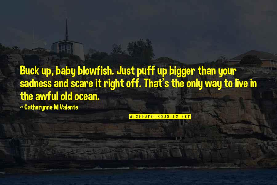 It's Just Life Quotes By Catherynne M Valente: Buck up, baby blowfish. Just puff up bigger