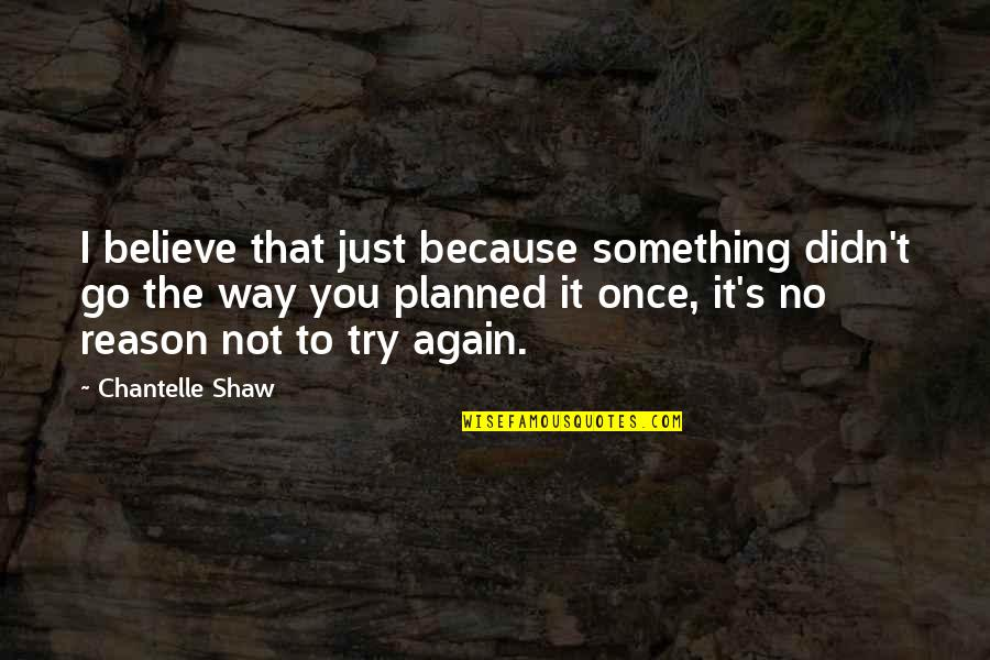 It's Just Life Quotes By Chantelle Shaw: I believe that just because something didn't go