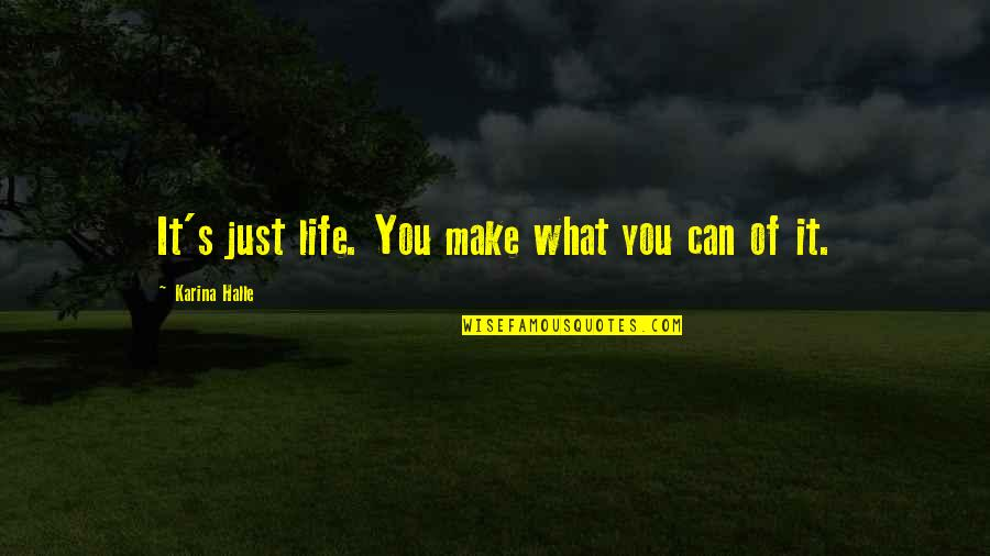 It's Just Life Quotes By Karina Halle: It's just life. You make what you can