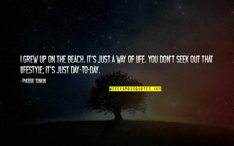 It's Just Life Quotes By Phoebe Tonkin: I grew up on the beach. It's just