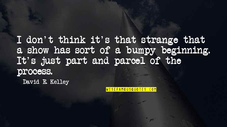 It's Just The Beginning Quotes By David E. Kelley: I don't think it's that strange that a