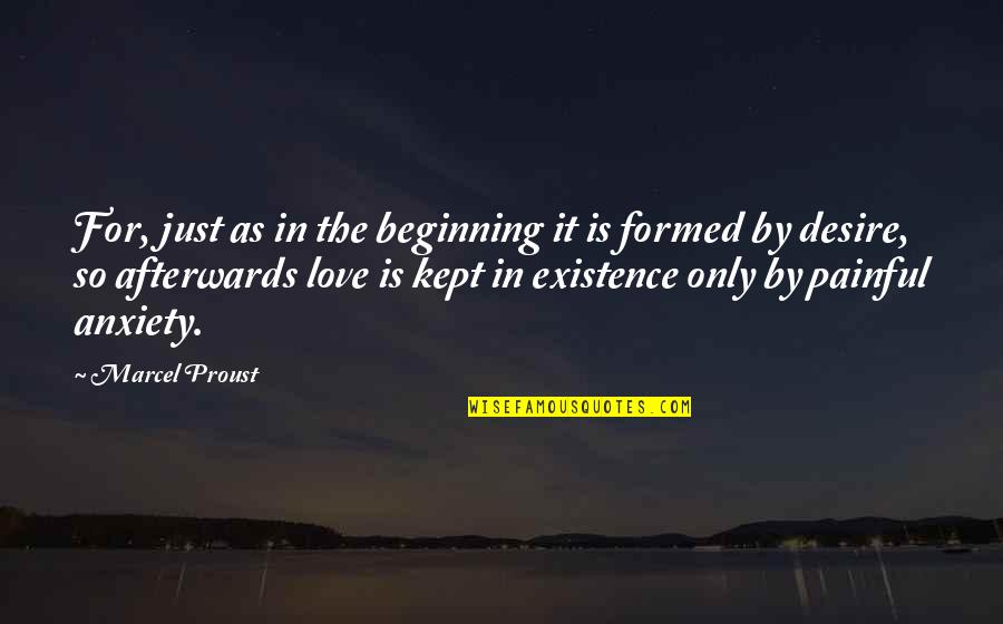 It's Just The Beginning Quotes By Marcel Proust: For, just as in the beginning it is