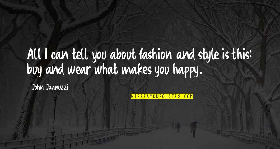 It's Not About What You Wear Quotes By John Jannuzzi: All I can tell you about fashion and