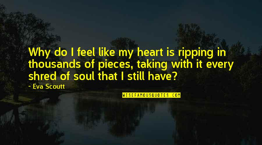 It's Okay I Still Love You Quotes By Eva Scoutt: Why do I feel like my heart is