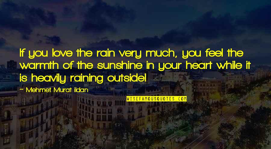 It's Raining Outside Quotes By Mehmet Murat Ildan: If you love the rain very much, you
