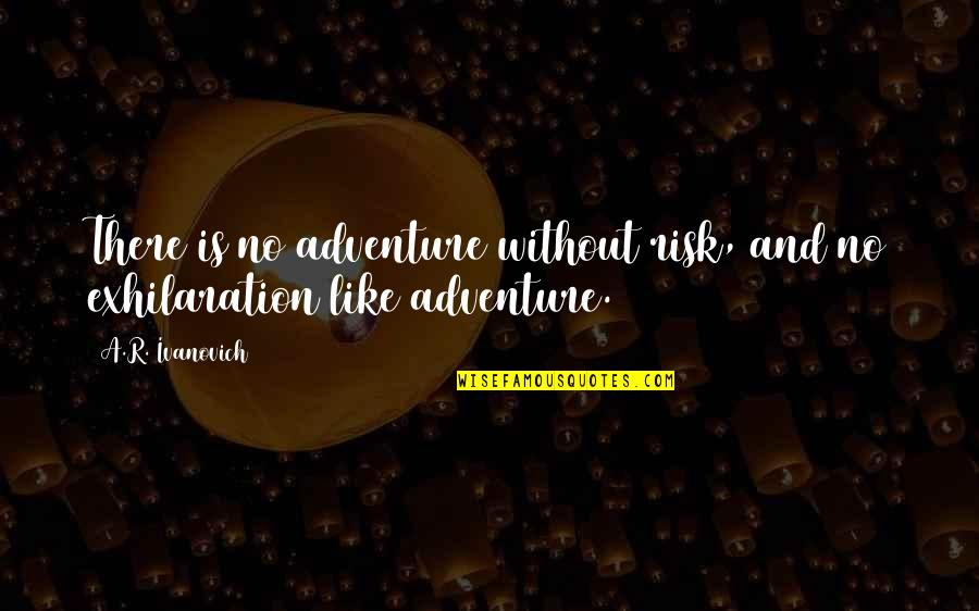 Ivanovich Quotes By A.R. Ivanovich: There is no adventure without risk, and no