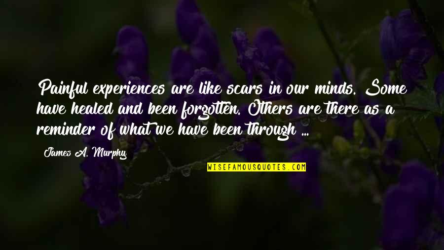 I've Been Forgotten Quotes By James A. Murphy: Painful experiences are like scars in our minds.