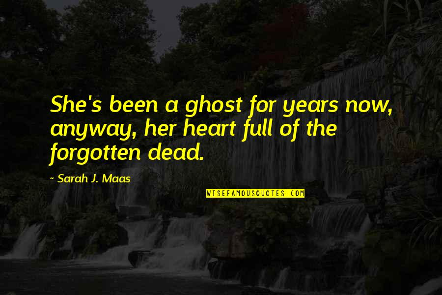 I've Been Forgotten Quotes By Sarah J. Maas: She's been a ghost for years now, anyway,