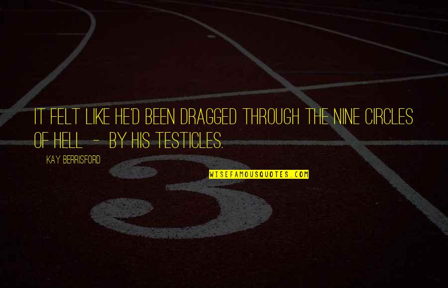 I've Been Through Hell Quotes By Kay Berrisford: It felt like he'd been dragged through the