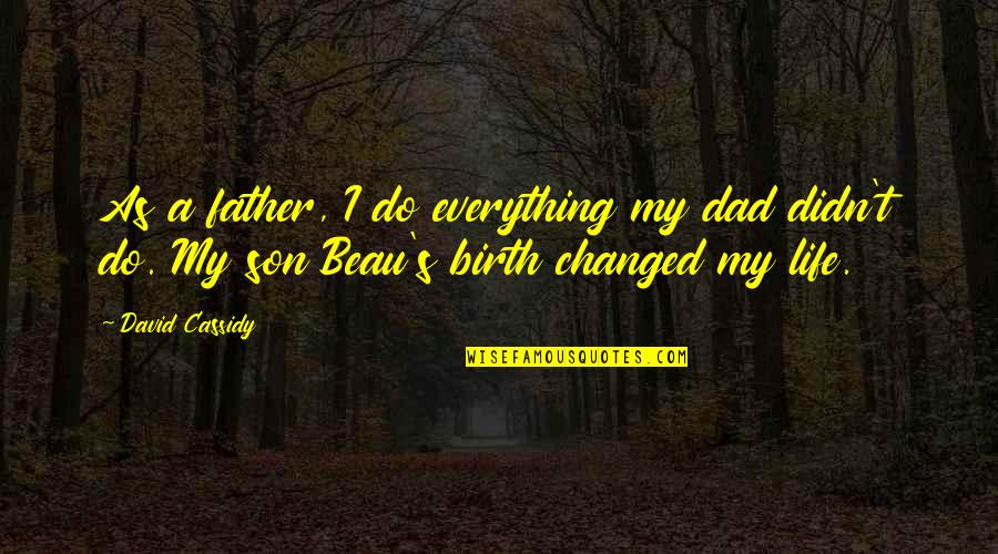 I've Changed My Life Quotes By David Cassidy: As a father, I do everything my dad