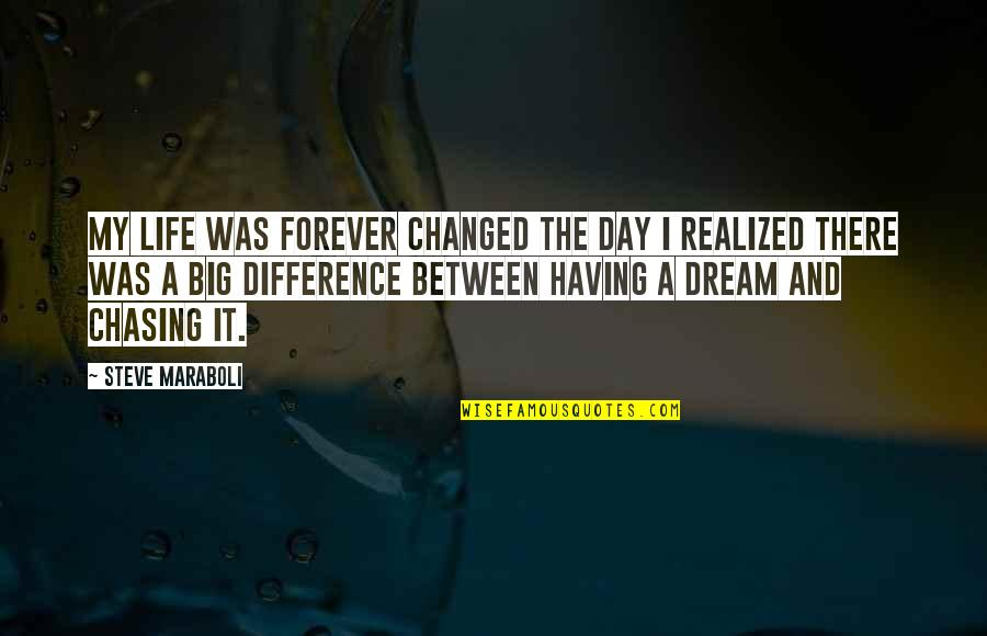 I've Changed My Life Quotes By Steve Maraboli: My life was forever changed the day I