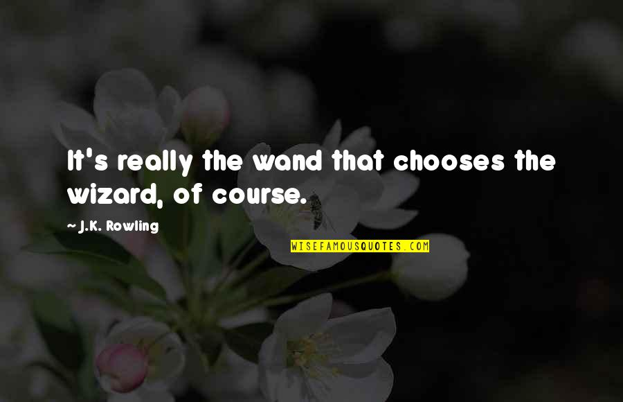 J.k.nyerere Quotes By J.K. Rowling: It's really the wand that chooses the wizard,