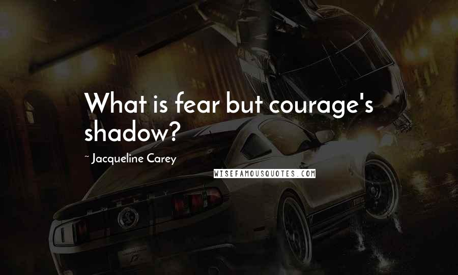 Jacqueline Carey quotes: What is fear but courage's shadow?