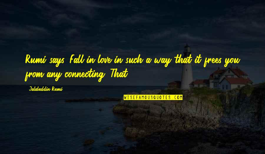 Jalaluddin Quotes By Jalaluddin Rumi: Rumi says, Fall in love in such a