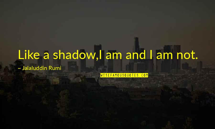Jalaluddin Quotes By Jalaluddin Rumi: Like a shadow,I am and I am not.