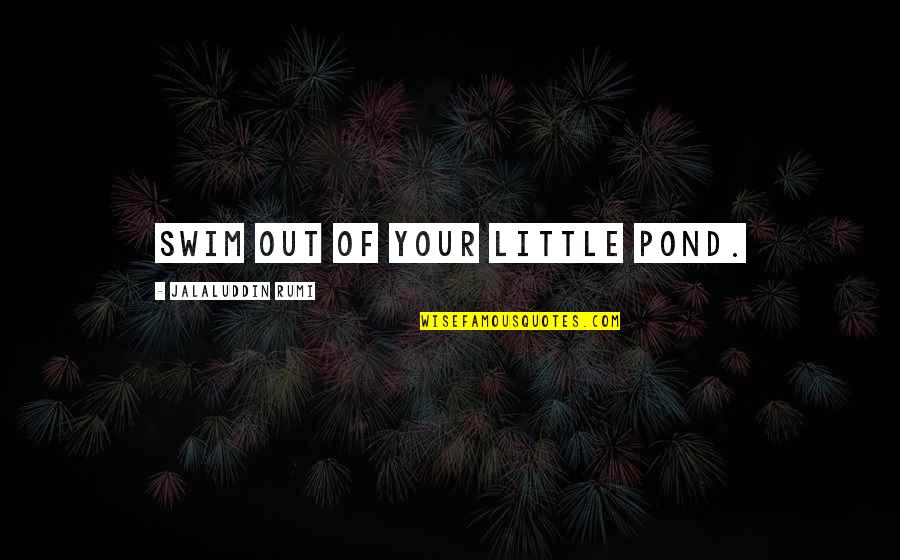 Jalaluddin Quotes By Jalaluddin Rumi: Swim out of your little pond.