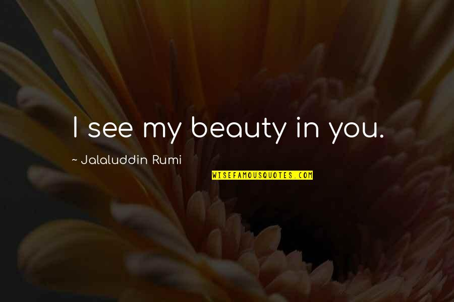 Jalaluddin Quotes By Jalaluddin Rumi: I see my beauty in you.