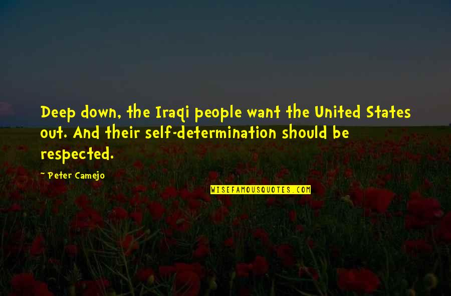 James Armistead Quotes By Peter Camejo: Deep down, the Iraqi people want the United