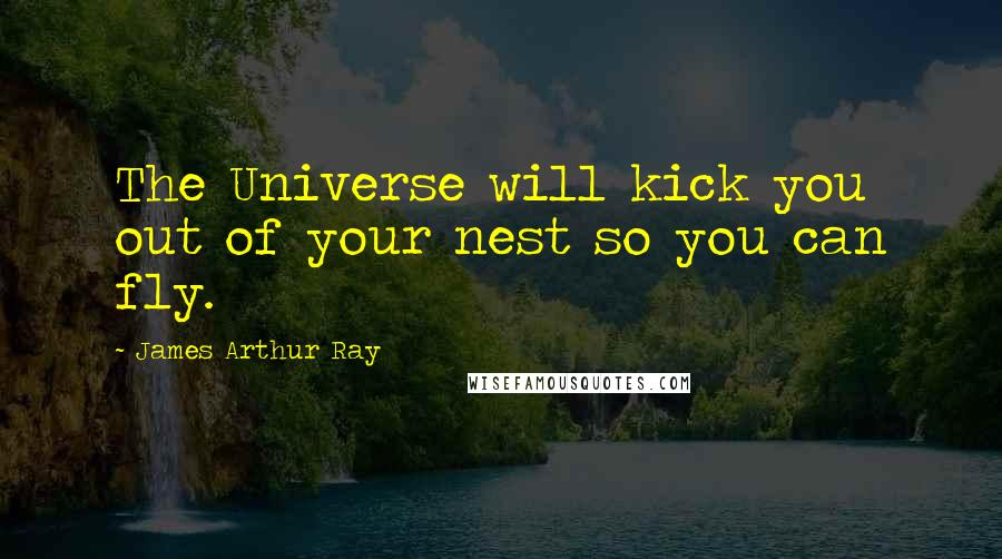 James Arthur Ray quotes: The Universe will kick you out of your nest so you can fly.
