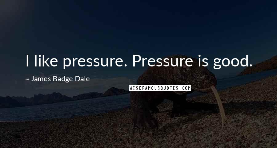 James Badge Dale quotes: I like pressure. Pressure is good.