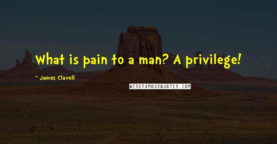 James Clavell quotes: What is pain to a man? A privilege!