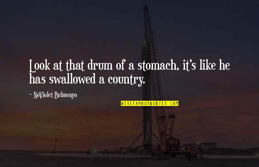 James Dole Quotes By NoViolet Bulawayo: Look at that drum of a stomach, it's