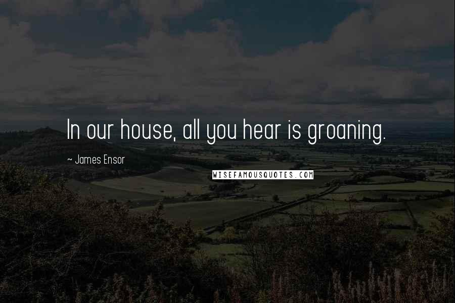 James Ensor quotes: In our house, all you hear is groaning.