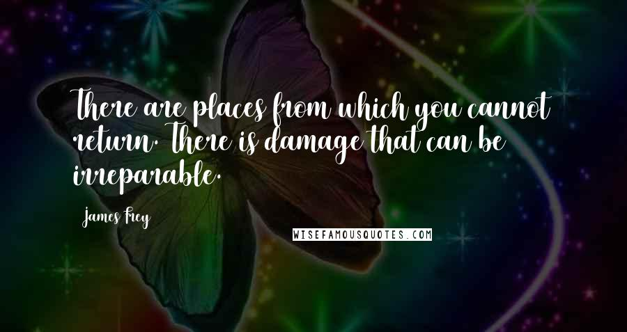 James Frey quotes: There are places from which you cannot return. There is damage that can be irreparable.