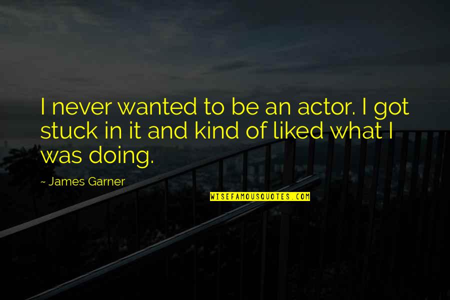 James Garner Quotes By James Garner: I never wanted to be an actor. I