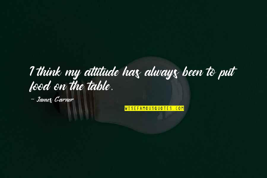 James Garner Quotes By James Garner: I think my attitude has always been to