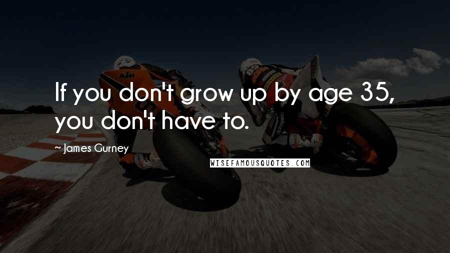 James Gurney quotes: If you don't grow up by age 35, you don't have to.