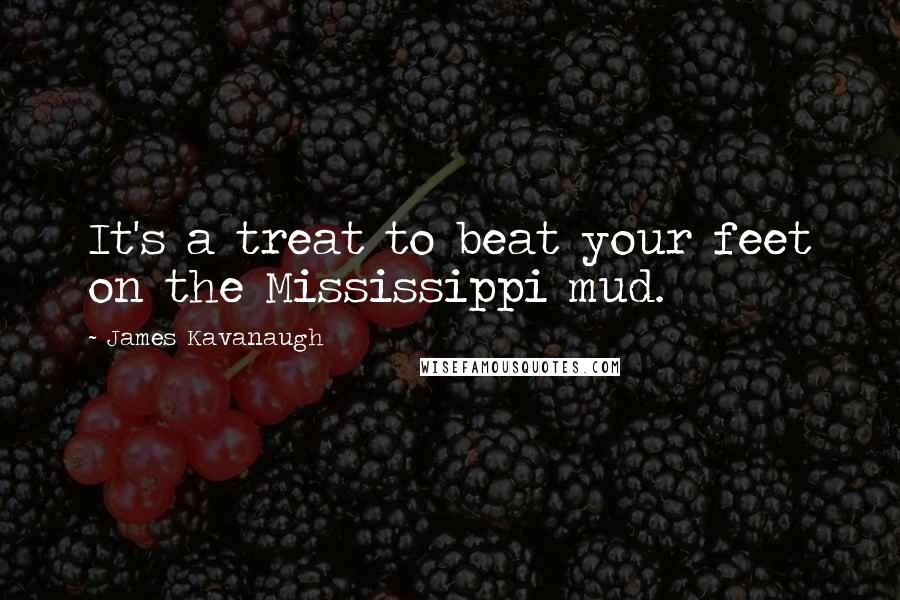 James Kavanaugh quotes: It's a treat to beat your feet on the Mississippi mud.