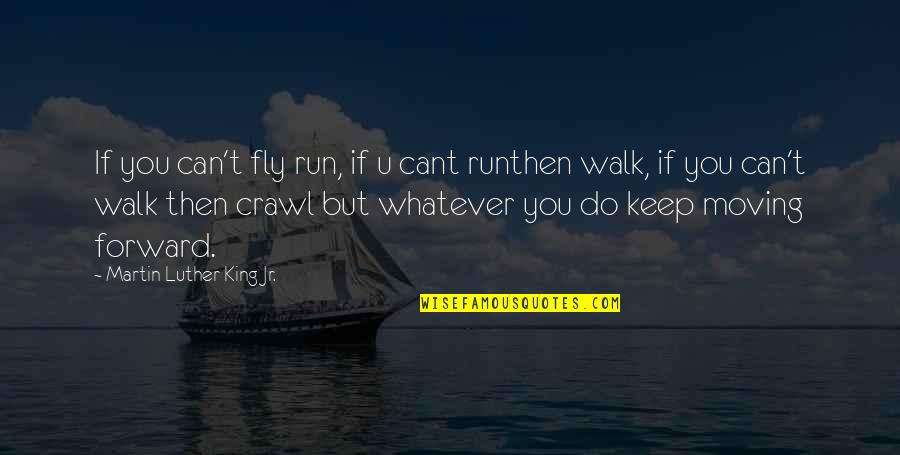 James Krenov Quotes By Martin Luther King Jr.: If you can't fly run, if u cant