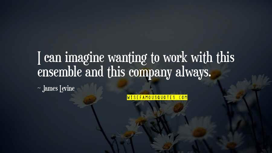 James Levine Quotes By James Levine: I can imagine wanting to work with this