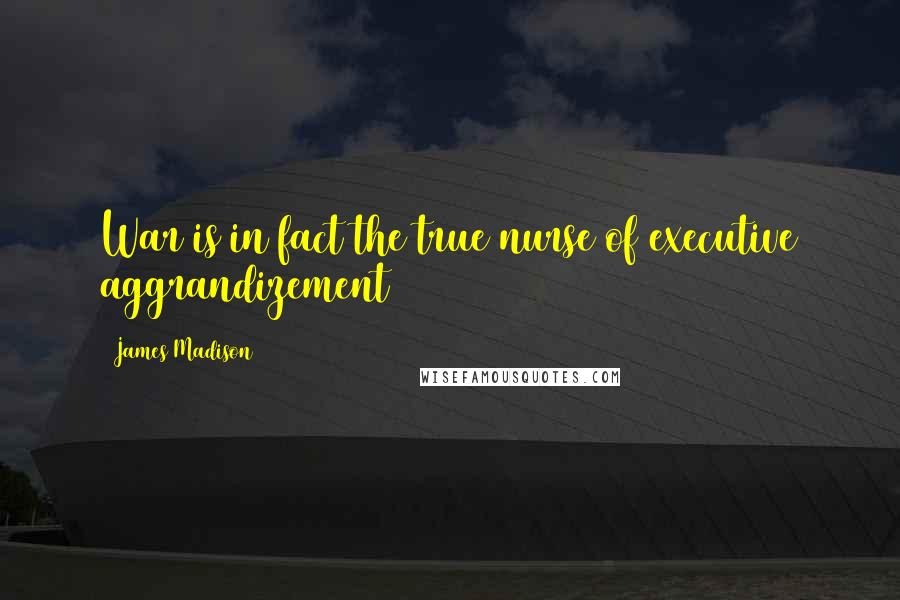 James Madison quotes: War is in fact the true nurse of executive aggrandizement