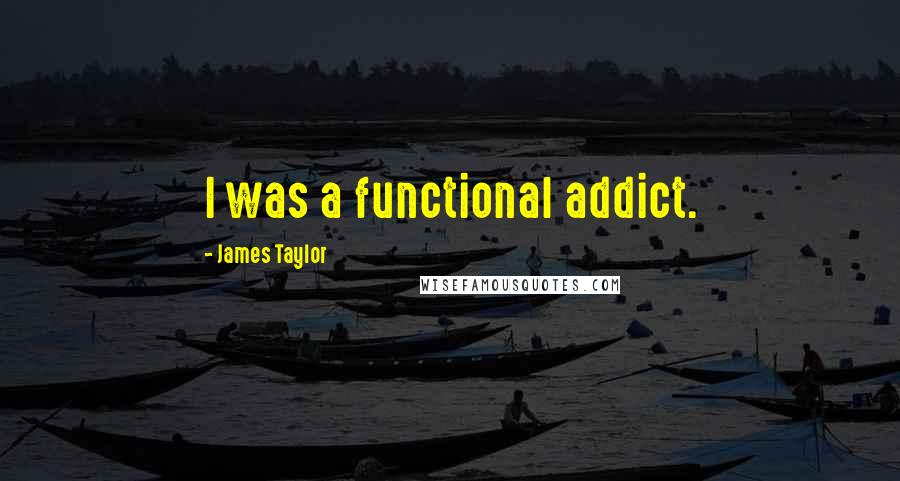 James Taylor quotes: I was a functional addict.